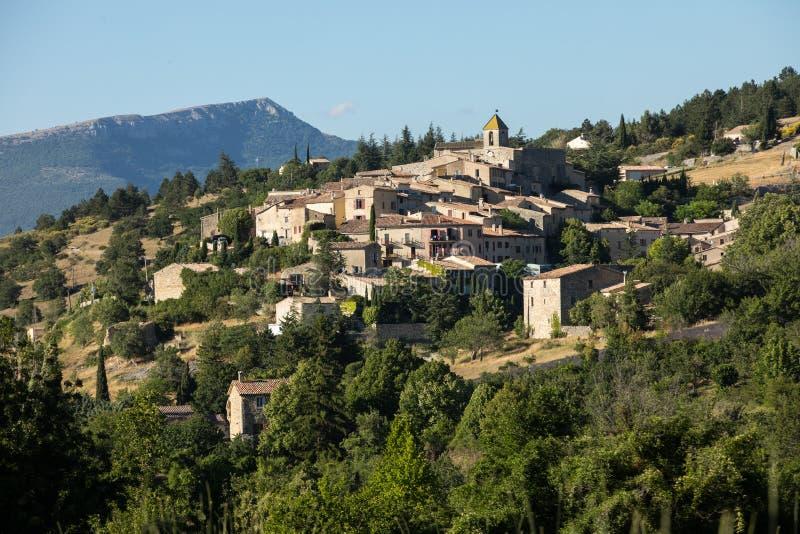 Aurel村庄在横谷,普罗旺斯 免版税库存图片