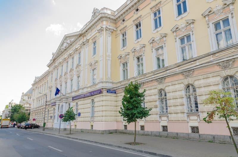 Aurel Vlaicu University d'Arad image stock