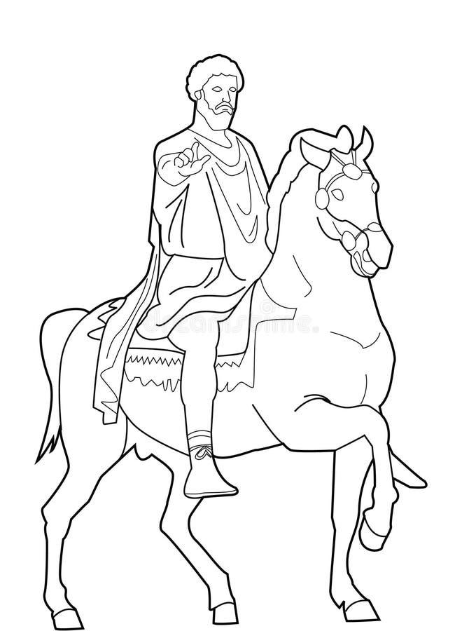 Aurelius de Marcus ilustração royalty free