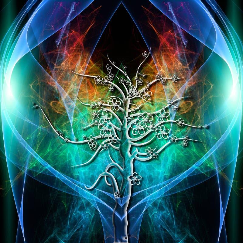 Aureola del árbol stock de ilustración