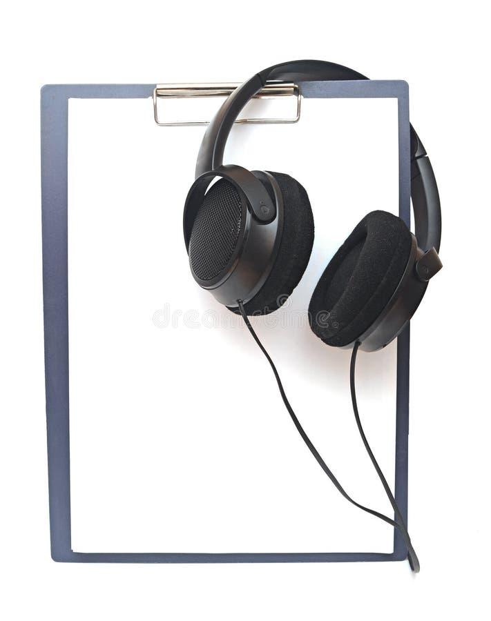 Auricular negro foto de archivo libre de regalías