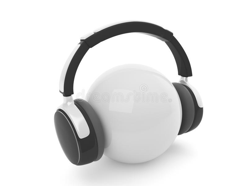 auriculares 3d stock de ilustración