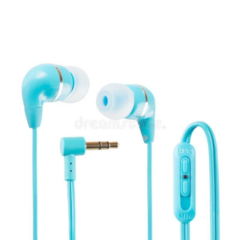 Auriculares azules imágenes de archivo libres de regalías