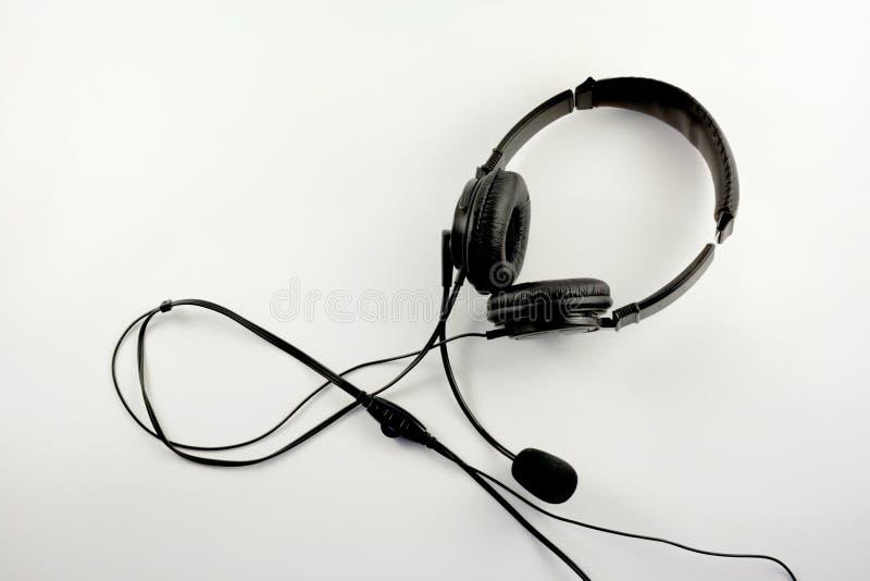Auriculares con el micrófono fotos de archivo