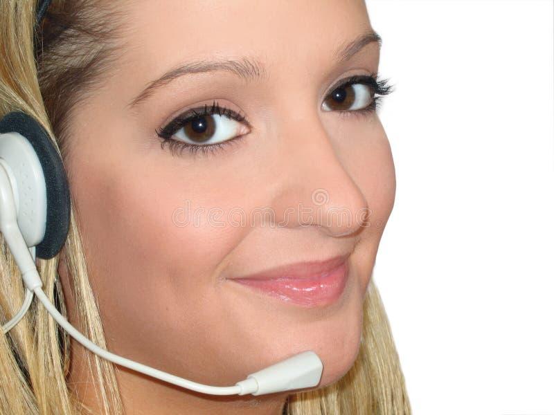 Download Auriculares da mulher imagem de stock. Imagem de auxílio - 538757