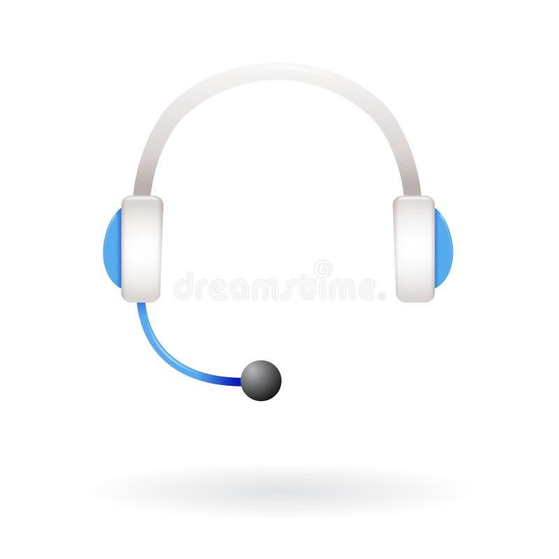 Auriculares de la ayuda del centro de atención telefónica ilustración del vector