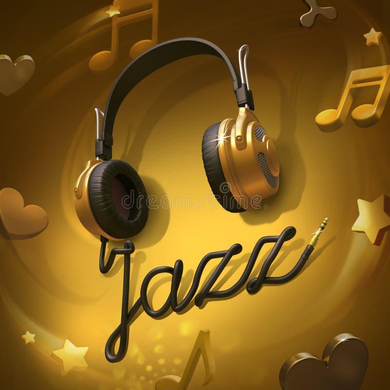Auriculares de la música de jazz libre illustration