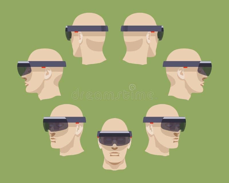 Auriculares de la realidad virtual ilustración del vector