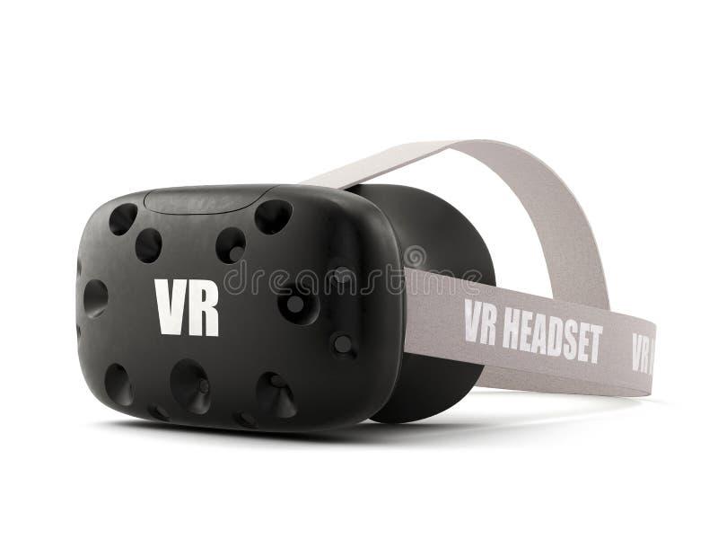 Auriculares de la realidad virtual de VR aisladas en blanco libre illustration