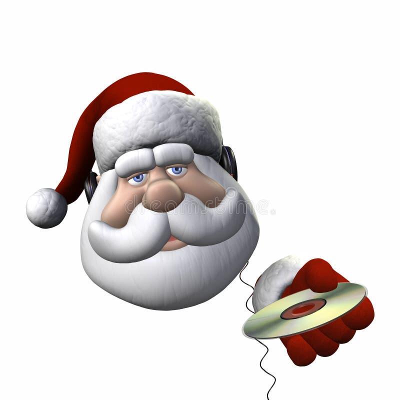 Auriculares de Santa - aislados ilustración del vector