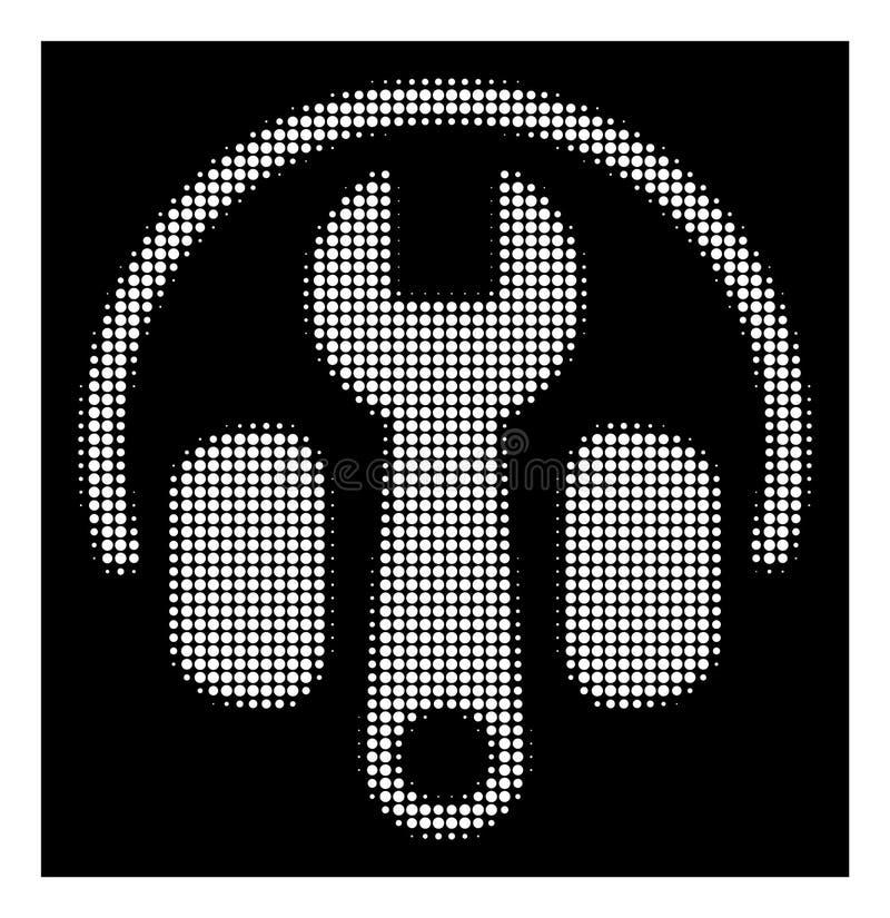 Auriculares de semitono blancos que adaptan el icono de la llave libre illustration