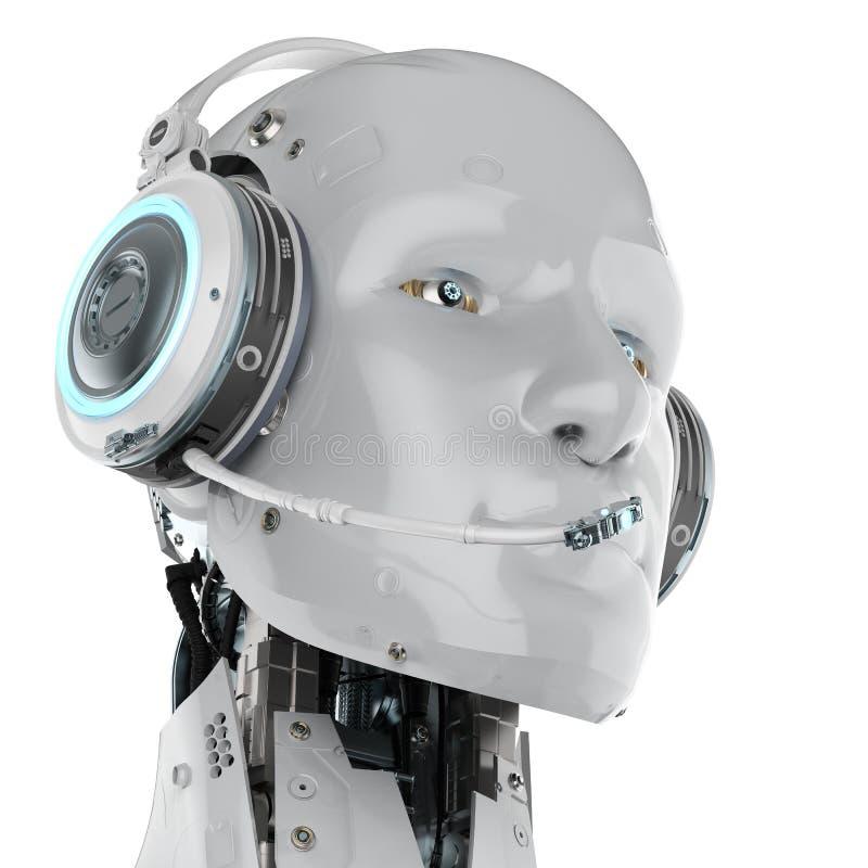 Auriculares del desgaste del robot stock de ilustración