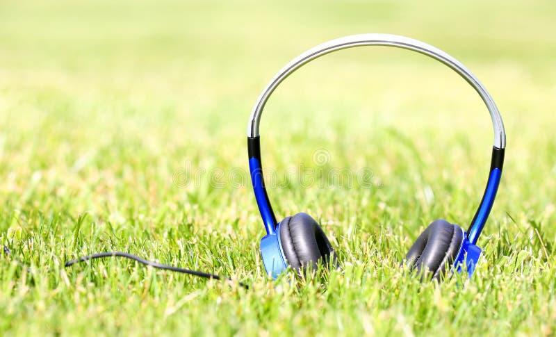 Download Auriculares en hierba foto de archivo. Imagen de púrpura - 41917700