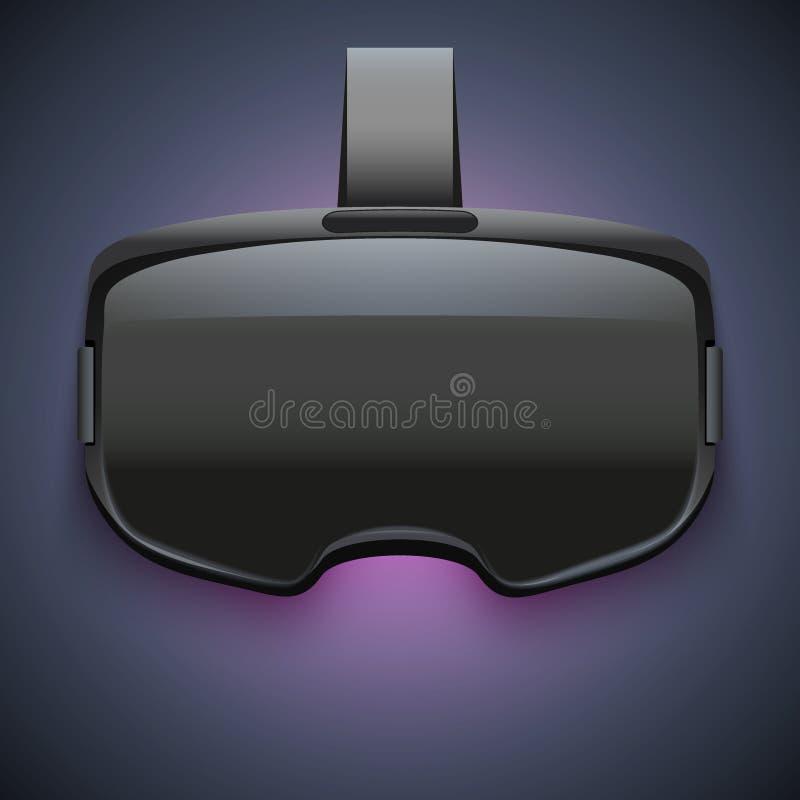 Auriculares estereoscopicamente originais de 3d VR ilustração do vetor