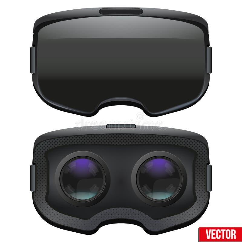 Auriculares estereoscopicamente originais de 3d VR para dentro ilustração royalty free