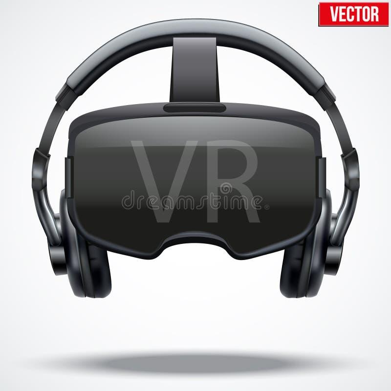 Auriculares originais de 3d VR ilustração royalty free