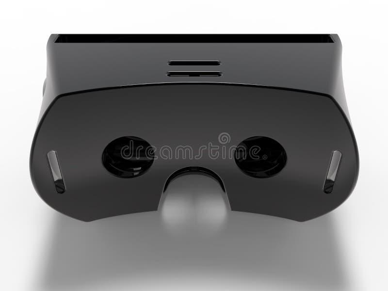 Auriculares pretos da realidade virtual ilustração royalty free