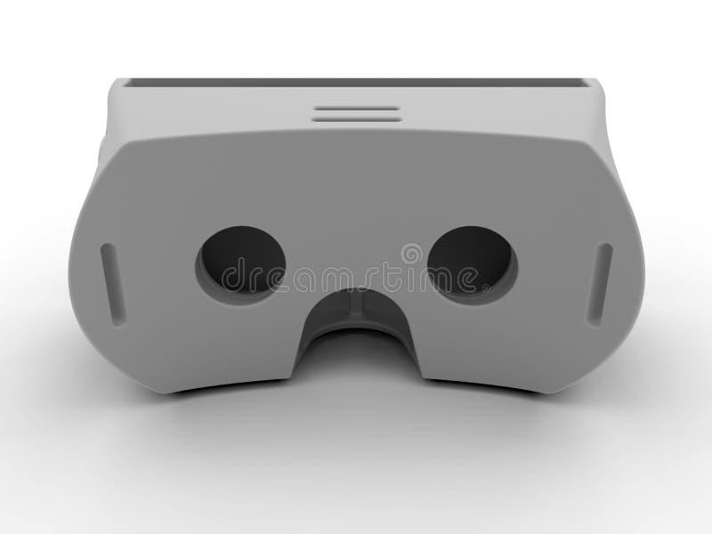 Auriculares simples da realidade virtual ilustração stock