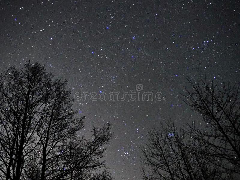Auriga και Taurus αστεριών νυχτερινού ουρανού παρατήρηση αστερισμών στοκ φωτογραφίες με δικαίωμα ελεύθερης χρήσης