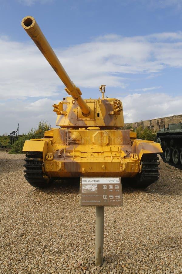 A auriga feita britânica tanque de pouco peso capturou pelo IDF no Sul do Líbano na exposição em museu blindado do corpo do la-Sh imagens de stock