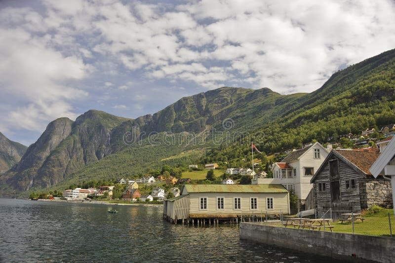 Aurland Fjordscape images stock