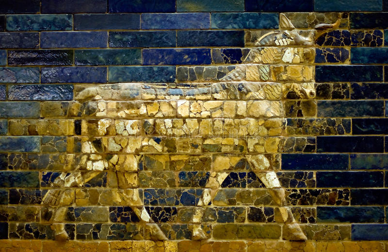 Aurochs de la porte d'Ishtar photo stock