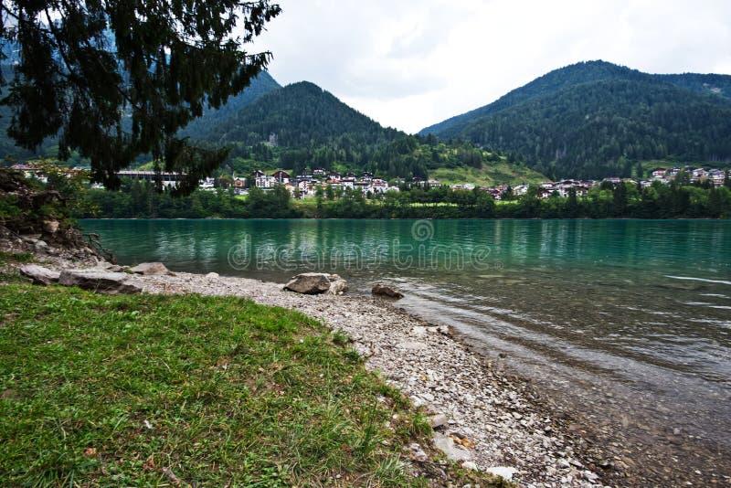 Auronzo,意大利湖  图库摄影