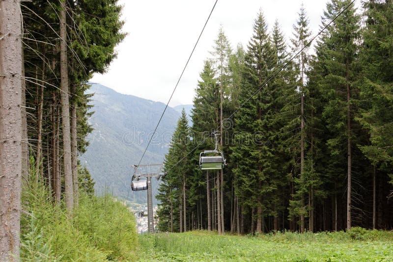 Auronzo di Cadore, Italia: Elevación de la montaña en el verano imágenes de archivo libres de regalías