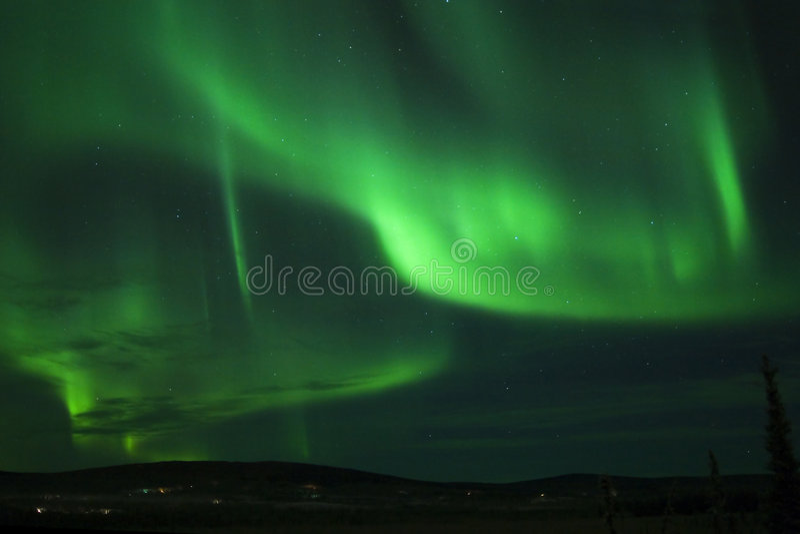 Aurora 01 di notte di Natale fotografia stock libera da diritti
