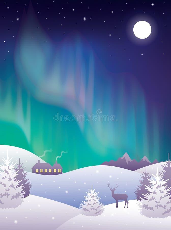 aurora ilustração royalty free