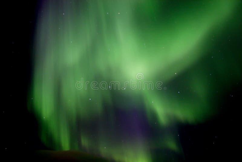 Aurora aérea Borealis, com constelação do Dipper grande imagem de stock