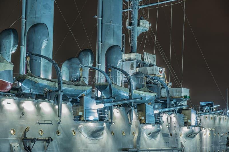 Aurora acorazada del crucero, StPetersburg, Rusia fotografía de archivo