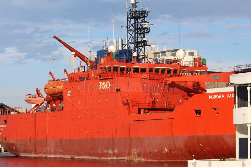 Aurora Australis Ship stock foto