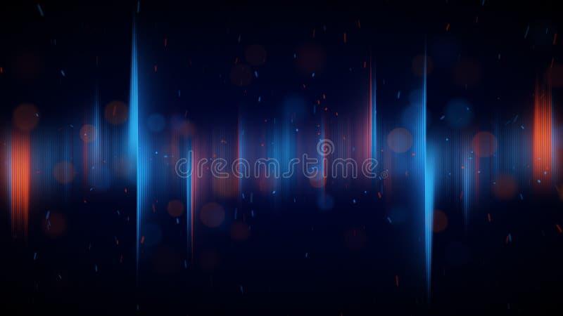 A Aurora azul e alaranjada ilumina o fundo abstrato ilustração royalty free