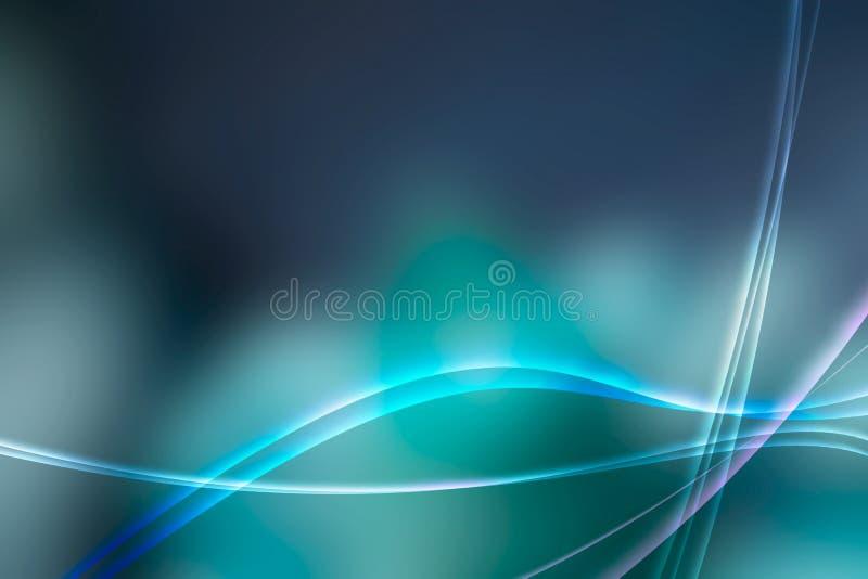 Aurora azul fresca ilustração royalty free