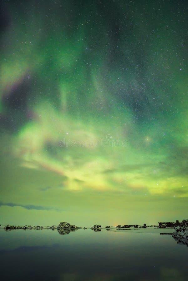 Aurora Behind Clouds lizenzfreie stockfotografie