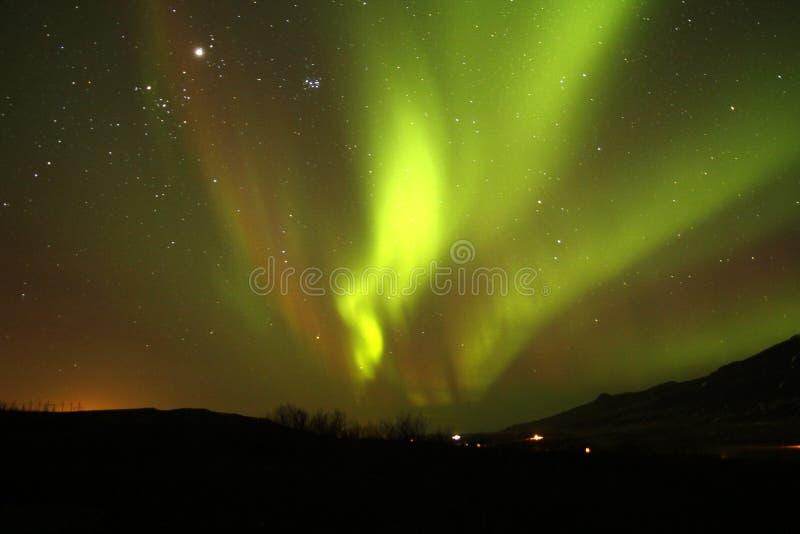 Aurora boreal fotografia de stock