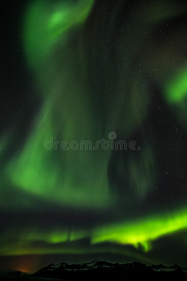 Aurora boreal Aurora Borealis Iceland Scandinavia Northern Europa imagen de archivo