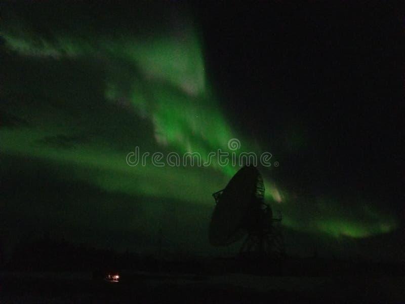 Aurora boreal em Talkeetna Alaska fotografia de stock