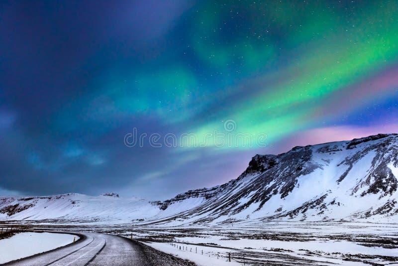 Aurora boreal hermosa foto de archivo libre de regalías