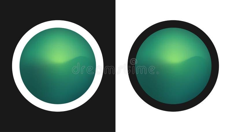 Aurora boreal - ilustração do vetor ilustração do vetor