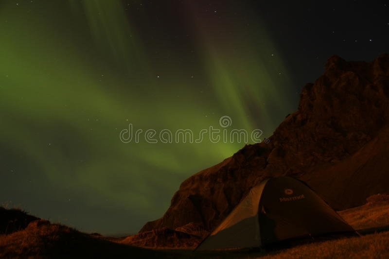 Aurora boreal islandêsa fotografia de stock royalty free