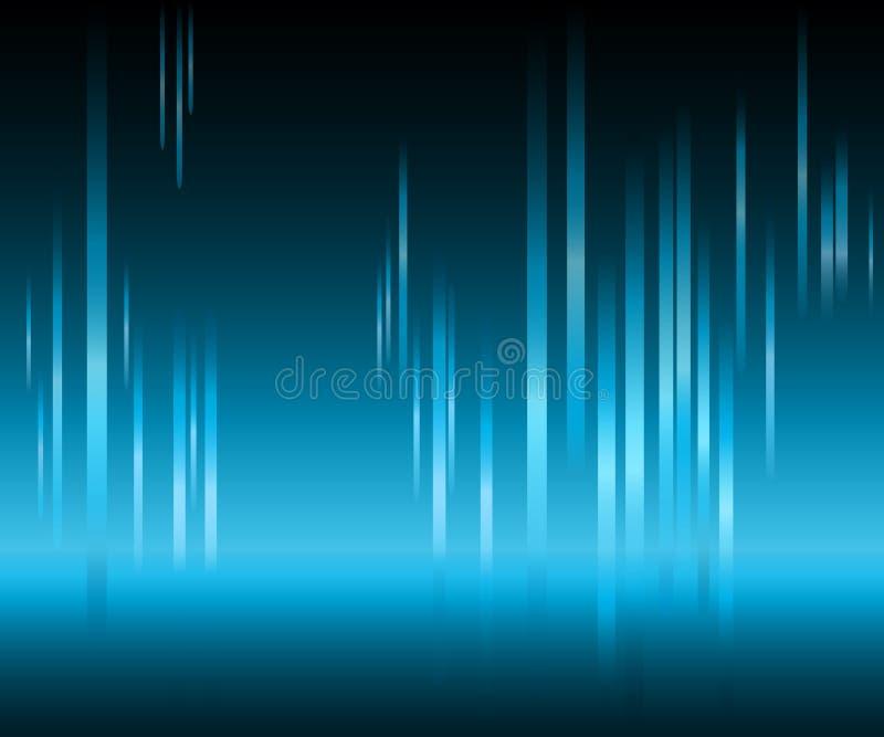 Aurora boreal, obscuridade - fundo azul ilustração royalty free