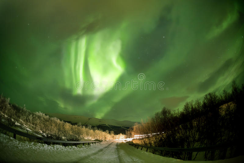 Aurora boreale (aurora borealis) fotografie stock libere da diritti