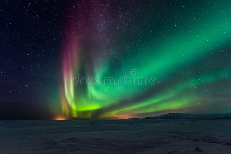 Aurora boreale Aurora Borealis fotografie stock libere da diritti