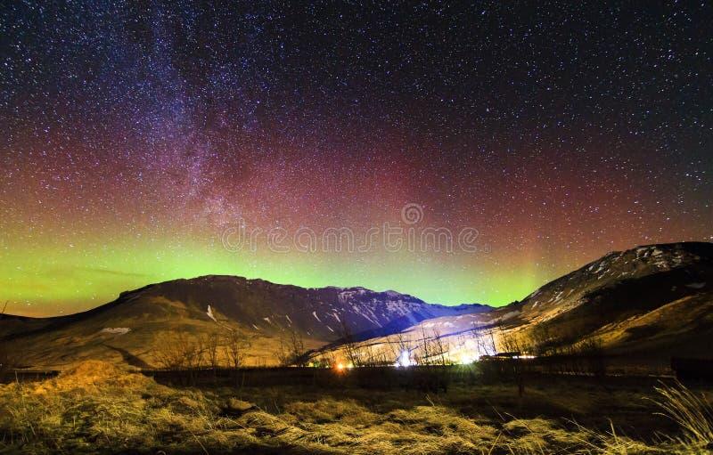 Aurora boreale Islanda fotografie stock