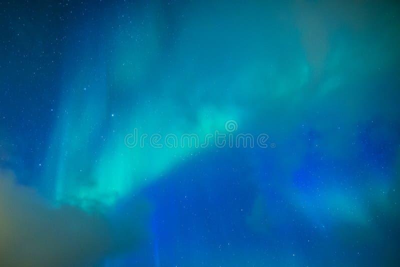 Aurora boreale stupefacente ed unica Aurora Borealis Over Lofoten Islands in Norvegia immagine stock