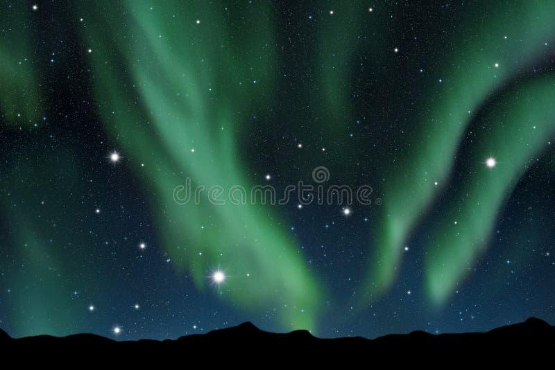 Aurora borealis ilustração stock