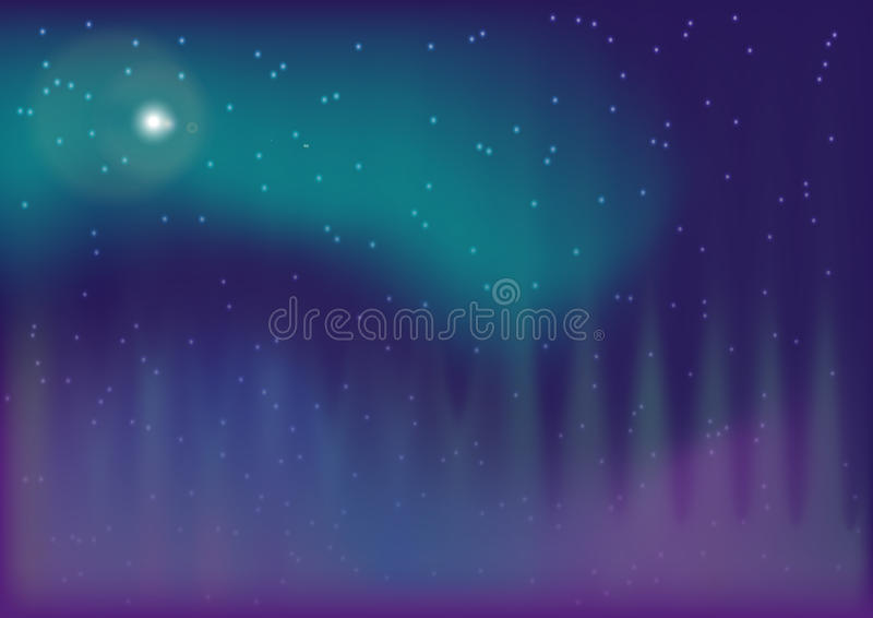 Aurora borealis royalty free illustration