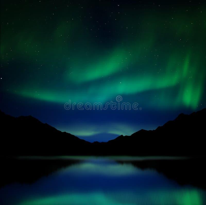 Aurora borealis royalty free illustration
